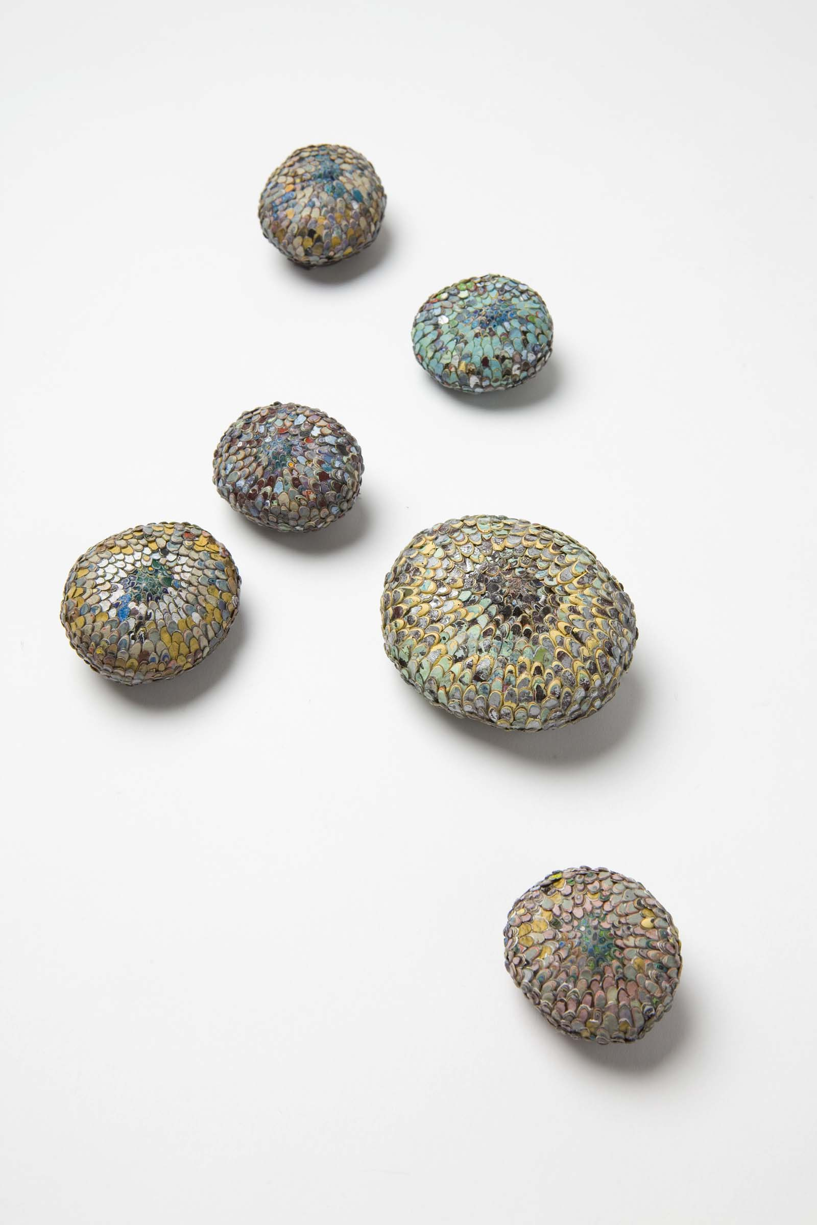 """Nuggets"" I Brooches, 2014 I Graffiti, silver, stainless steel I Photo: Mirei Takeuchi"