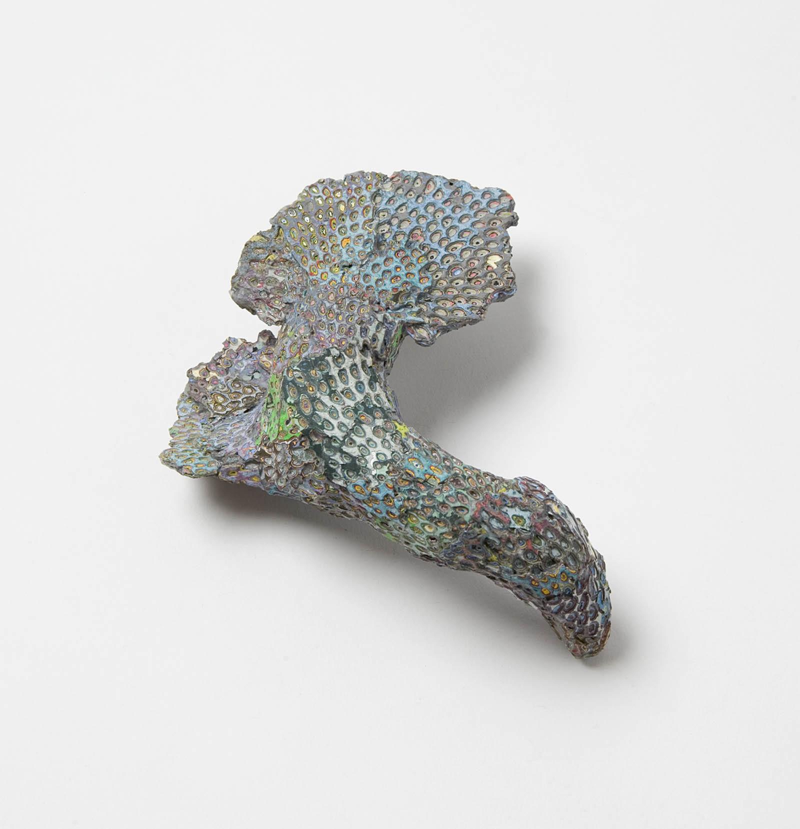 """Raduga Fossil"" I Brooch, 2014 I Graffiti, wood, silver, stainless steel I Photo: Mirei Takeuchi"