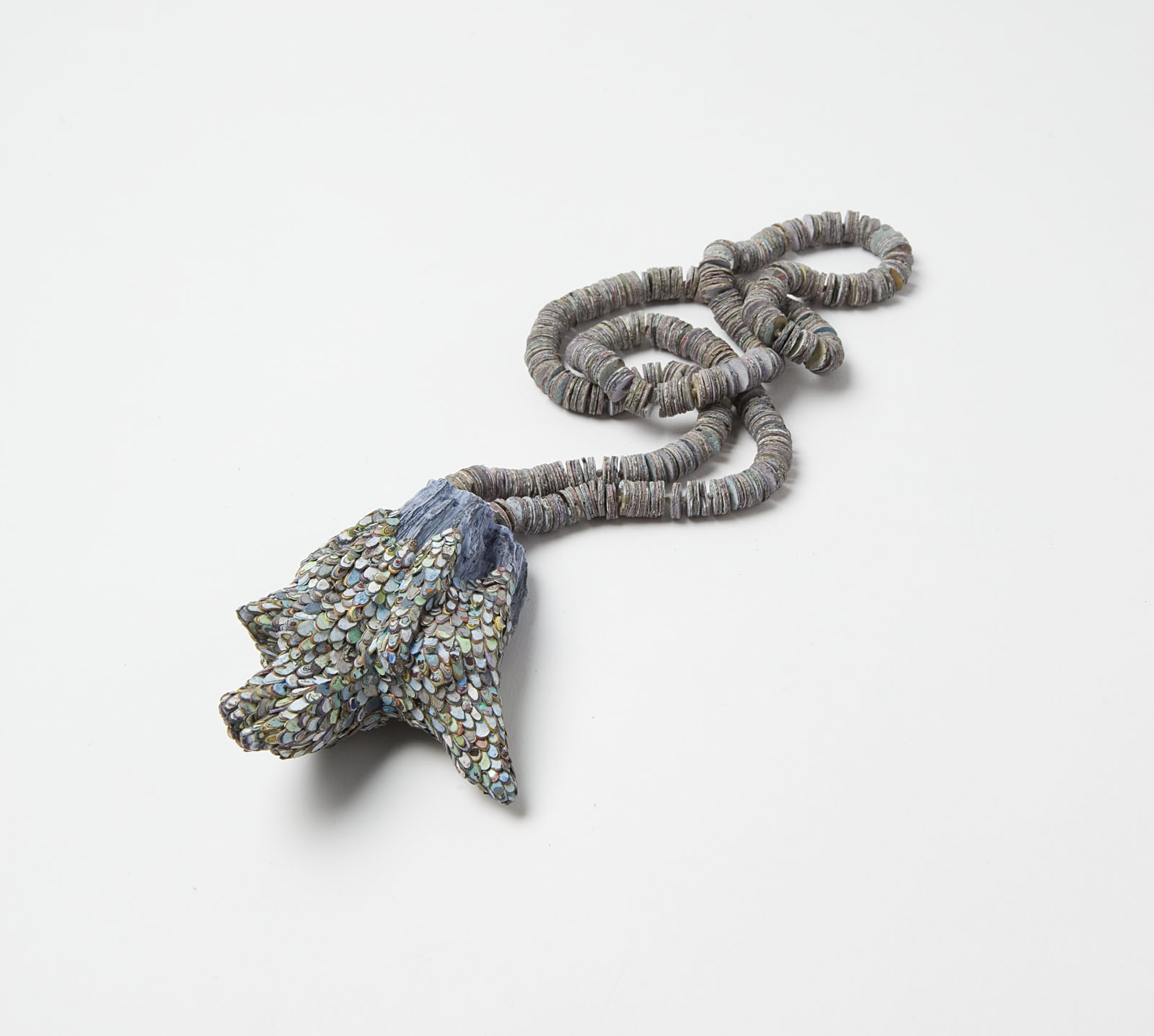 """Rabbit's Foot"" I Necklace, 2014 I Wood, graffiti, silver, string, paint I Photo: Mirei Takeuchi"