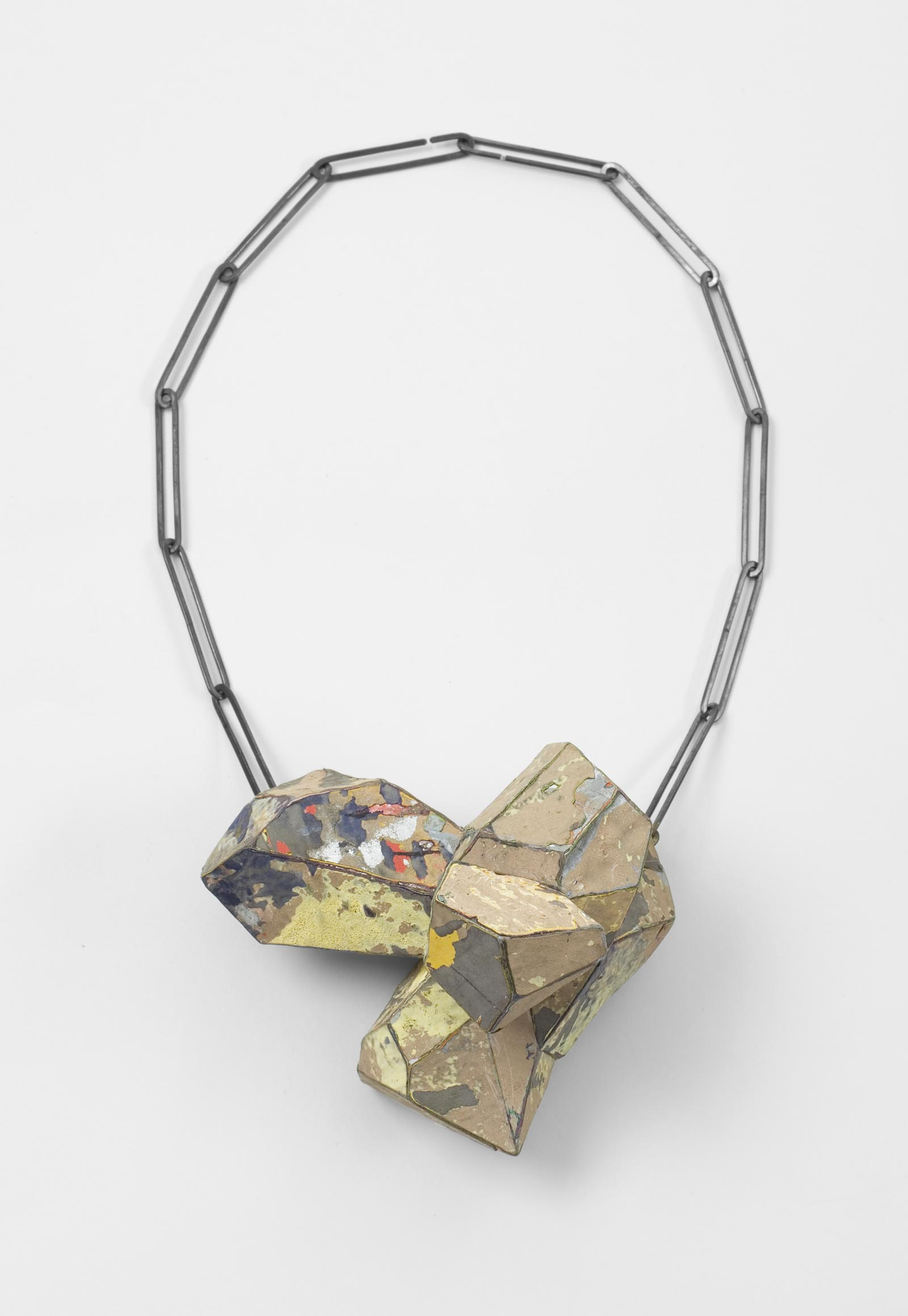 """Stained"" I Necklace, 2012 I Graffiti, silver I Photo: Mirei Takeuchi"