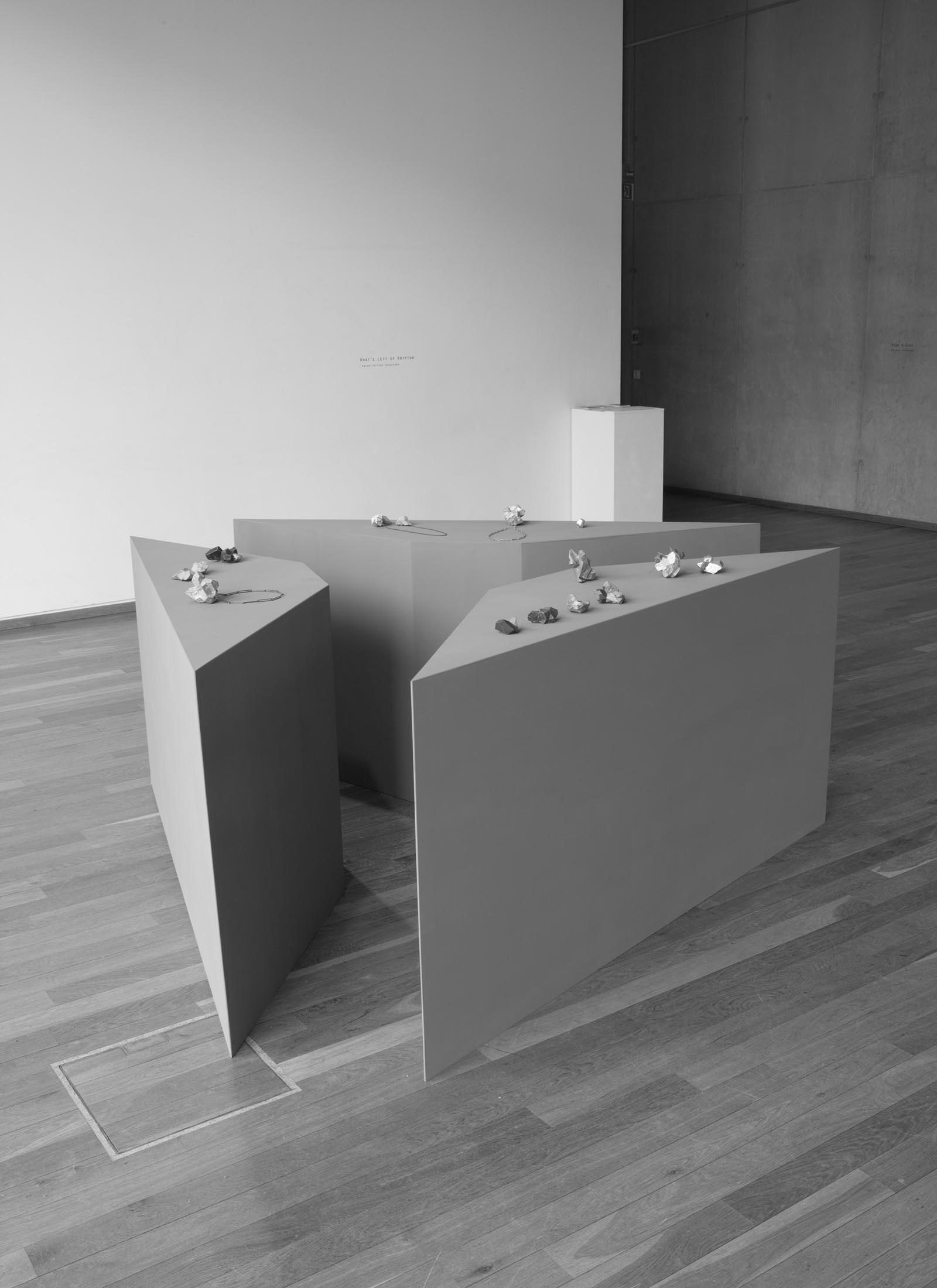 """What's Left of Krypton"" I The diploma show of Carina Shoshtary I 2012 I Academy of Fine Arts, Munich, Germany I Photo: Mirei Takeuchi"