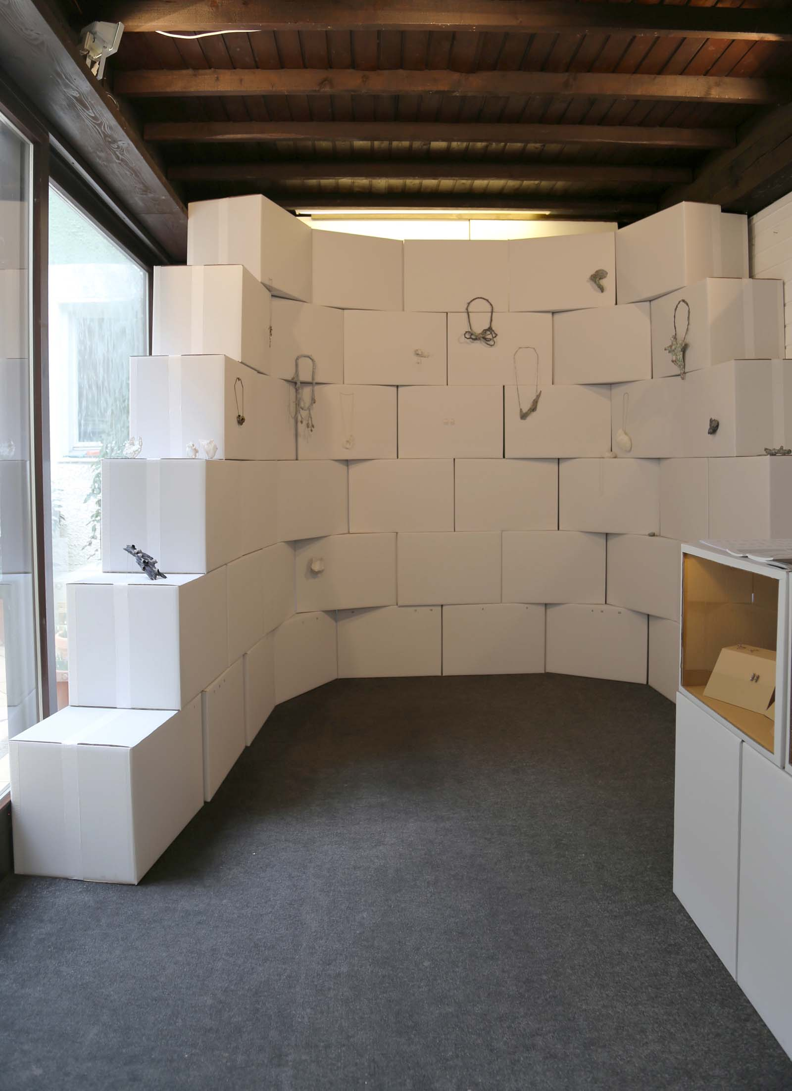 """Microphilia"" I A duo exhibition of Annamaria Leiste and Carina Shoshtary I 2015 I Studio Gierke-Berr, Munich, Germany I Photo: Carina Shoshtary"