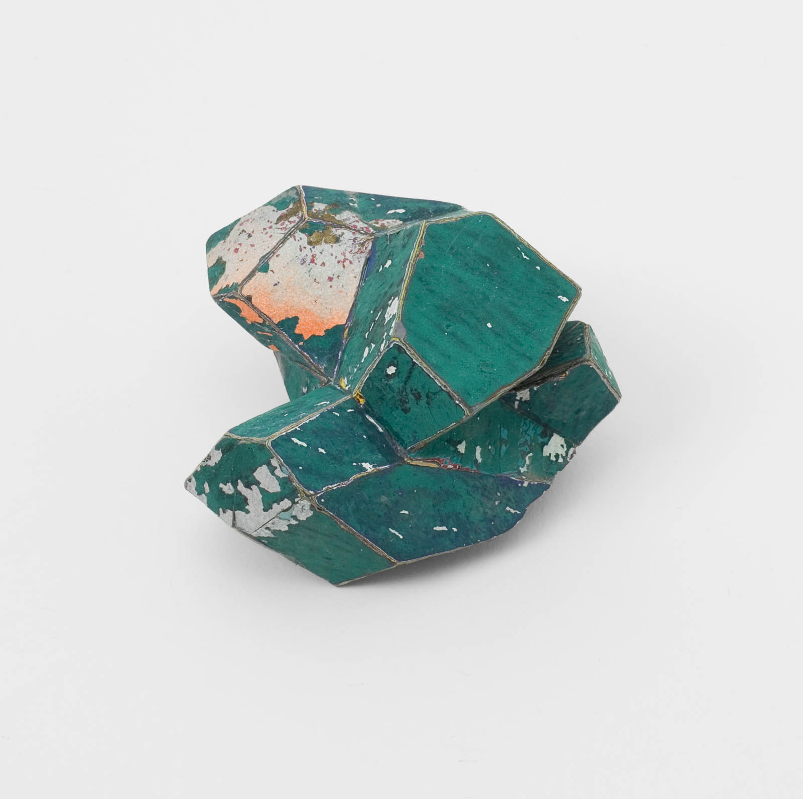 """Forest Green"" I Brooch, 2012 I Graffiti, silver, stainless steel I Photo: Mirei Takeuchi"