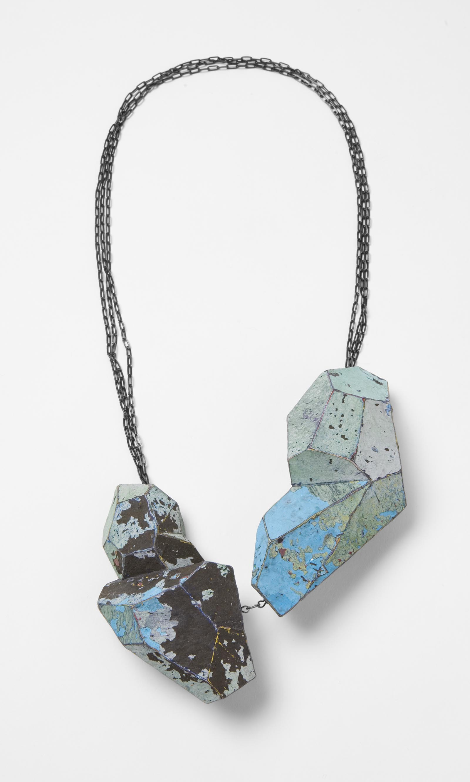 """Black Islands"" I Necklace, 2013 I Graffiti, silver I Photo: Mirei Takeuchi"