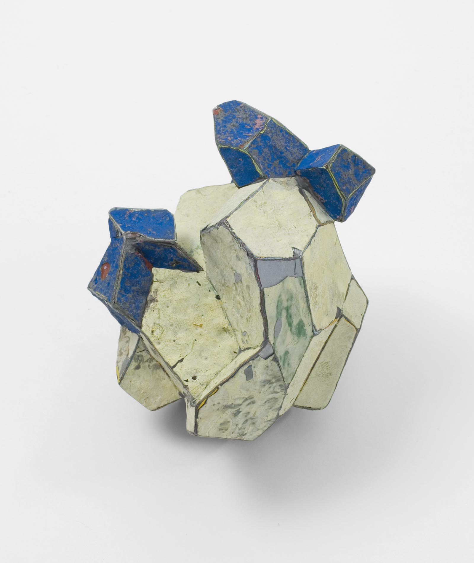 """Yellow & Blue"" I Brooch, 2011 I Graffiti, silver, stainless steel I Photo: Mirei Takeuchi"
