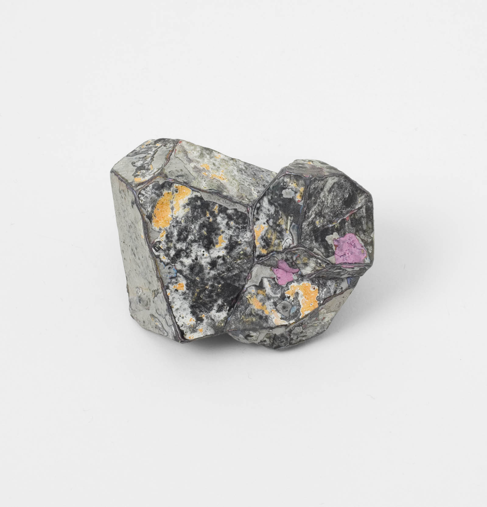 """Stained 4"" I Brooch, 2012 I Graffiti, silver, stainless steel I Photo: Mirei Takeuchi"