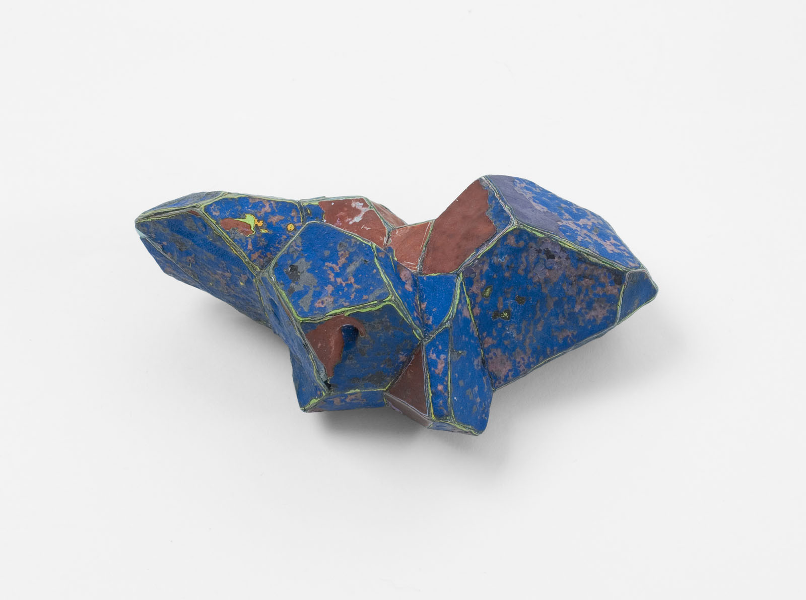 """Blue"" I Brooch, 2011 I Graffiti, silver, stainless steel I Photo: Mirei Takeuchi"
