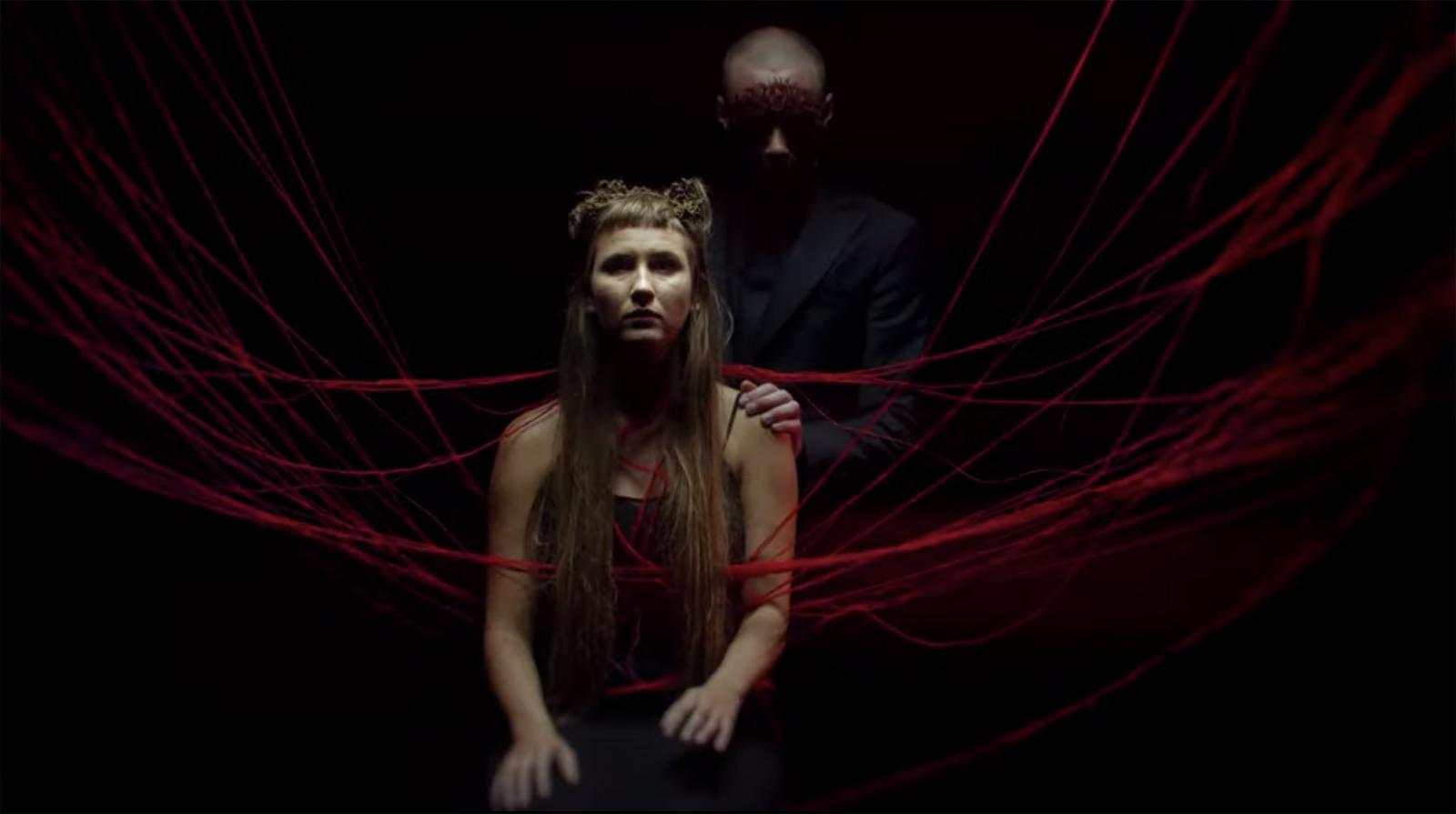 "Per Vidar Gornitzka Anfinnsen wearing the ""Artemesia I"" mask in the ""Skeleton"" music video I Photo by Simon Matthew Valentine"